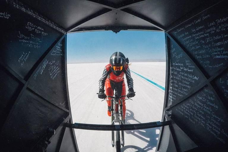 Recorde mundial de velocidade sobre bicicleta