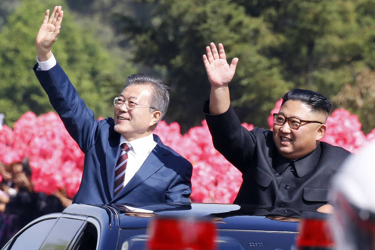 Presidente da Coreia do Sul visita Coreia do Norte