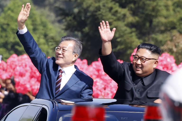 Presidente da Coreia do Sul visita Coreia do Norte