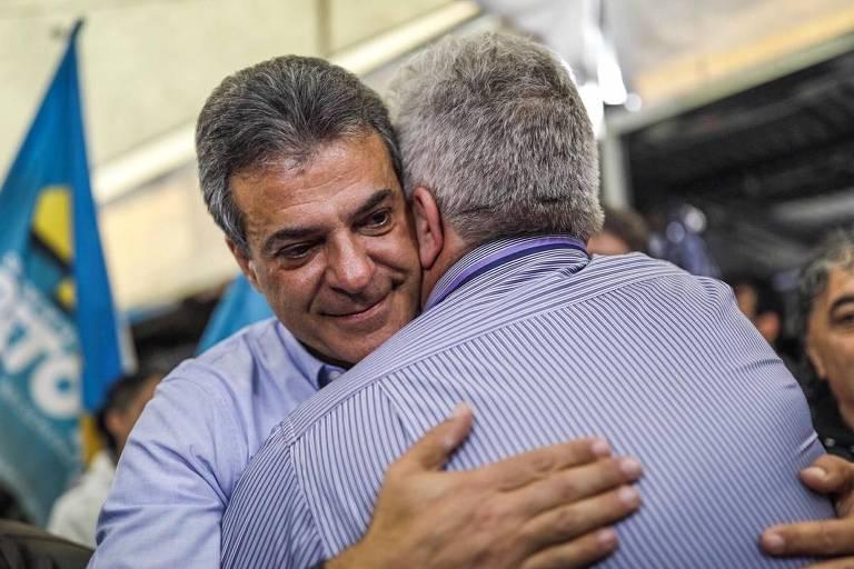 O ex-governador do Paraná Beto Richa, candidato do PSDB ao Senado, durante ato de campanha