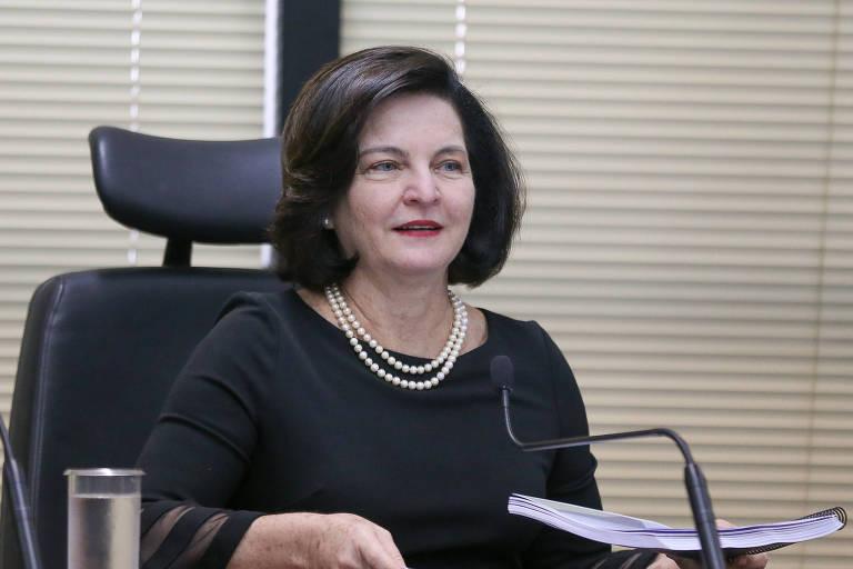 A procuradora-geral Raquel Dodge durante coletiva de imprensa para fazer balanço de um ano da sua gestão à frente da PGR