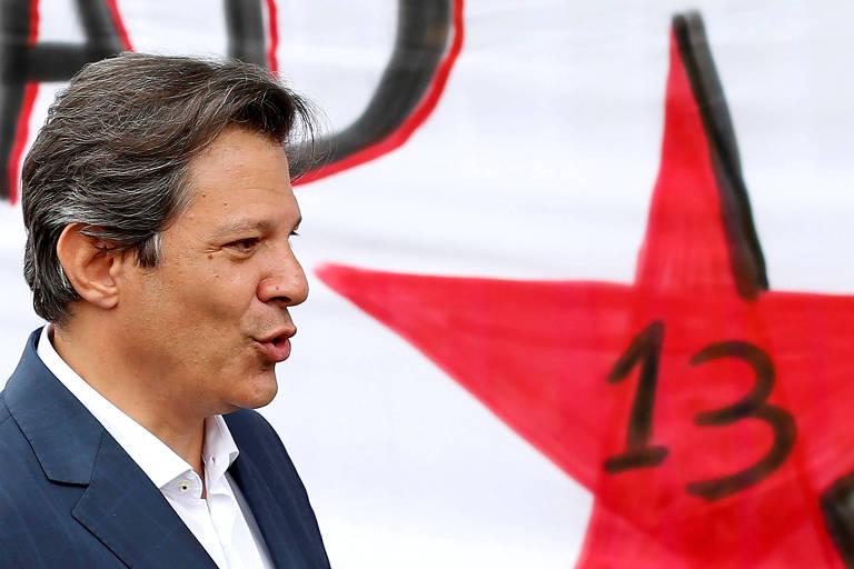 O presidenciável Fernando Haddad (PT), que aposta em uma disputa com Ciro Gomes (PDT) no segundo turno