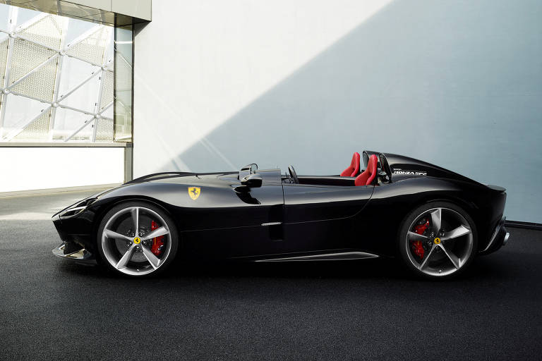 Ferrari's new Monza SP2 is seen in this picture released by Ferrari press office during a meeting in Maranello