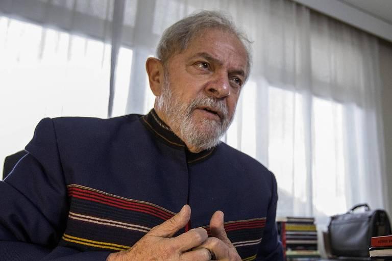 O ex-presidente Luiz Inácio Lula da Silva (PT) durante entrevista exclusiva à Folha, em janeiro
