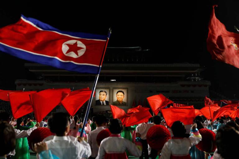 Celebração na Coreia do Norte