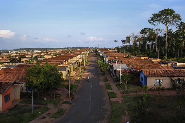 Reassentamento construído na periferia de Altamira para abrigar abrigar os moradores que foram removidos para a construção de Belo Monte