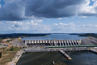 Vista da usina de Belo Monte