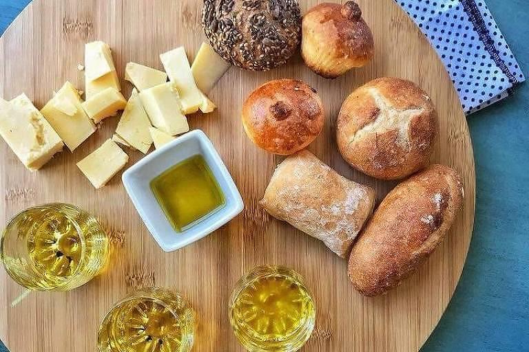 Degustação de azeites na Fazenda Irarema em Poços de Caldas (MG)