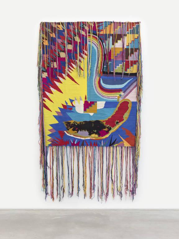 Tapeçaria de Avaf exibida em mostra na Casa Triângulo
