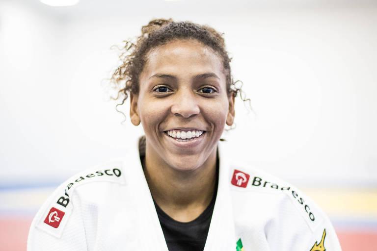A judoca Rafaela Silva, campeã olímpica na Rio-2016 e um dos destaques da equipe do Brasil no Campeonato Mundial de Baku (AZE)
