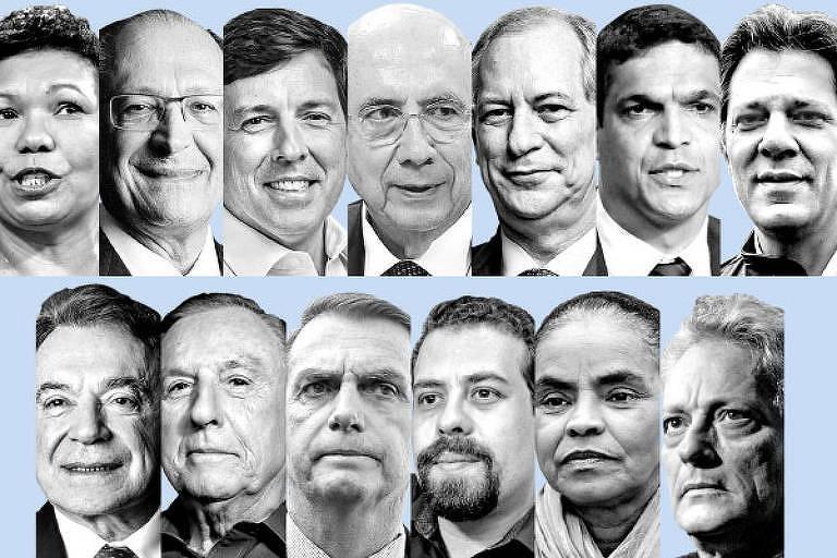 Carinhas dos candidatos a presidência final