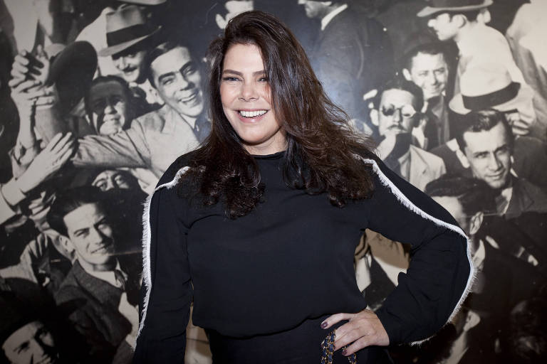 A atriz Gisele Fraga