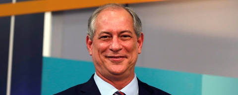 Presidential candidate Ciro Gomes of the Democratic Labour party (PDT)  gestures during a television debate at the Gazeta TV studio in Sao Paulo, Brazil September 9, 2018. REUTERS/Nacho Doce ORG XMIT: GGGNAC31