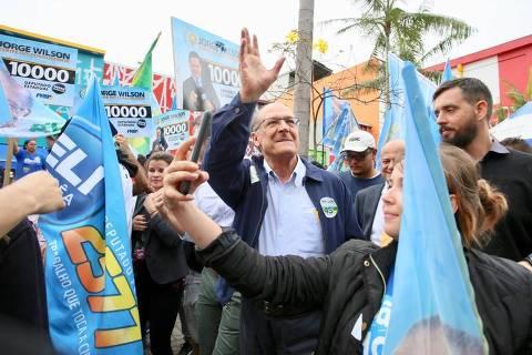 Alckmin aposta em SP na reta final e 'cobra fatura' em estado que governou