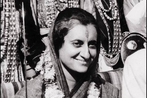 ORG XMIT: 321801_1.tif TO GO WITH India-politics-women   (FILES) In this undated file photograph, Indian Prime Minister Indira Gandhi is portrayed at the Talkatora Gardens in New Delhi. India's parliament votes March 8, 2010 on a landmark bill reserving one third of seats for women, with the government confident it can pass the legislation that has been stalled for 14 years. AFP PHOTO/FILES/STR