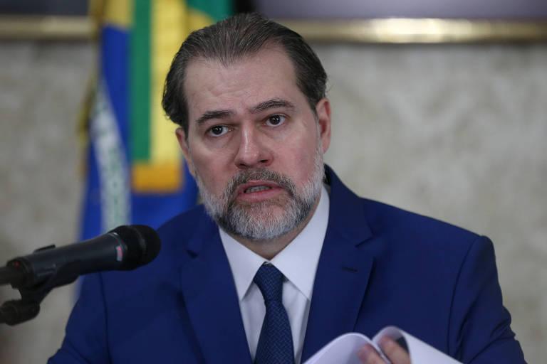 O ministro Dias Toffoli, que assumiu a presidência do STF no lugar da ministra Cármen Lúcia