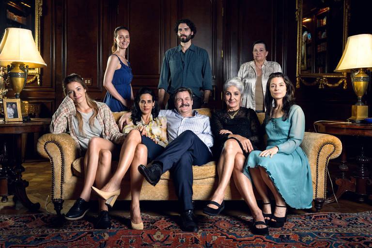 """Retrato de família do Roger (Antonio Calloni) da série """"Assédio"""""""