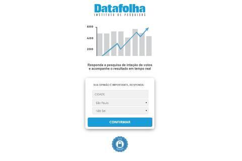 Links no WhatsApp para responder pesquisa de Datafolha e Ibope são falsos