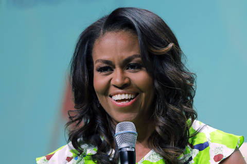 FILE - In this June 22, 2018, file photo, former first lady Michelle Obama speaks at the American Library Association annual conference in New Orleans. Obama is set to appear in Las Vegas on Sunday, Sept. 23, to rally voter registration volunteers and encourage people to vote in the November elections. (AP Photo/Gerald Herbert, File) ORG XMIT: NYAG704