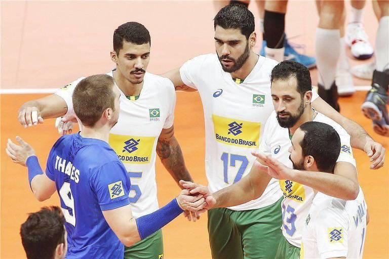 Seleção brasileira de vôlei venceu a Bélgica por 3 sets a 2 pelo Mundial