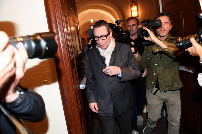 Jean-Claude Arnault chega ao tribunal em Estocolmo, na Suécia