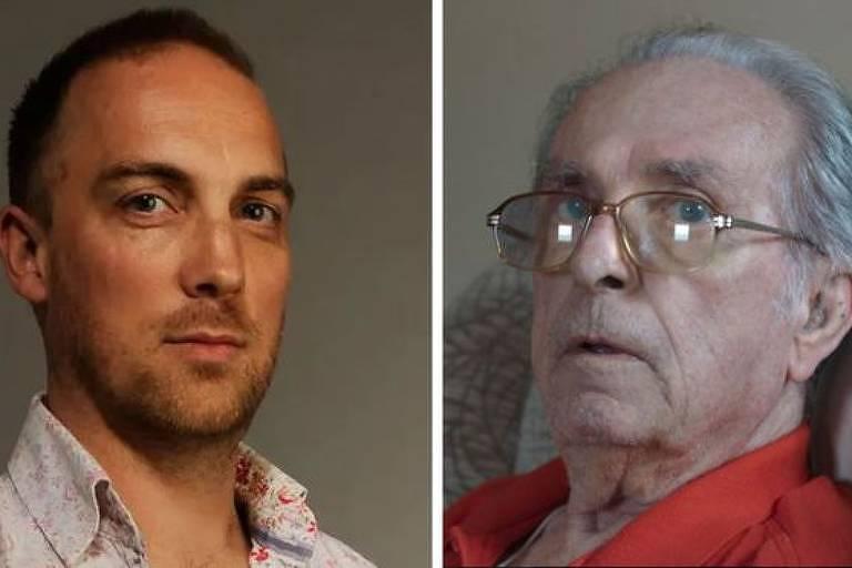 O diretor, à esquerda, registrou a morte de Alan e de outras três pessoas em seu documentário