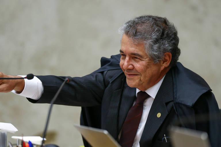 O ministro Marco Aurélio Mello em sessão do STF