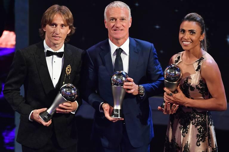 Figuras ilustres no prêmio de melhor do mundo da Fifa