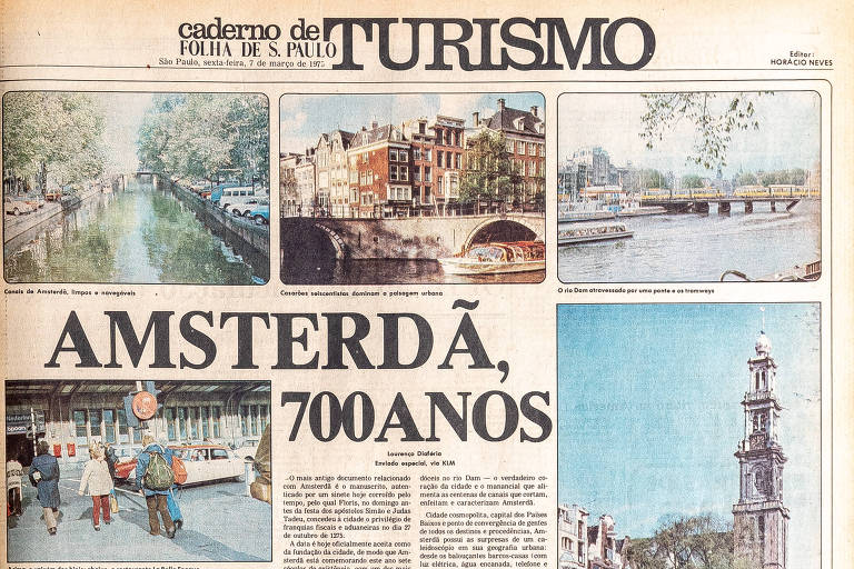 Capa do caderno Turismo de 7 de março de 1975