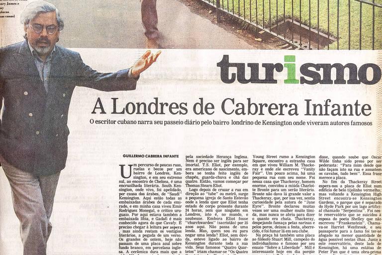 Reportagem de Cabrera Infante no caderno de Turismo de 18 de junho de 1987