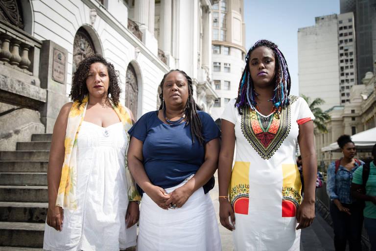 Ex-assessoras da vereadora Marielle Franco, Daniela Monteiro, Renata Souza e Mônica Francisco disputam vaga na Assembleia Legislativa do Rio