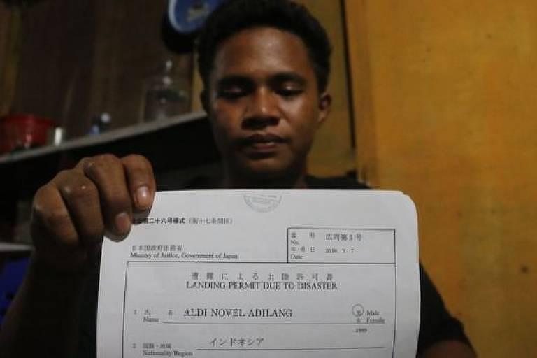 Aldi recebeu autorização para desembarcar no Japão devido à tragédia