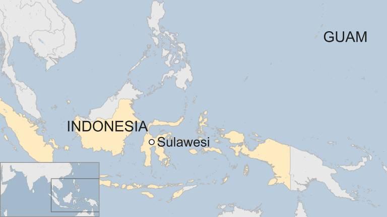 O território de Guam faz parte da Micronésia, a milhares de quilômetros da Indonésia