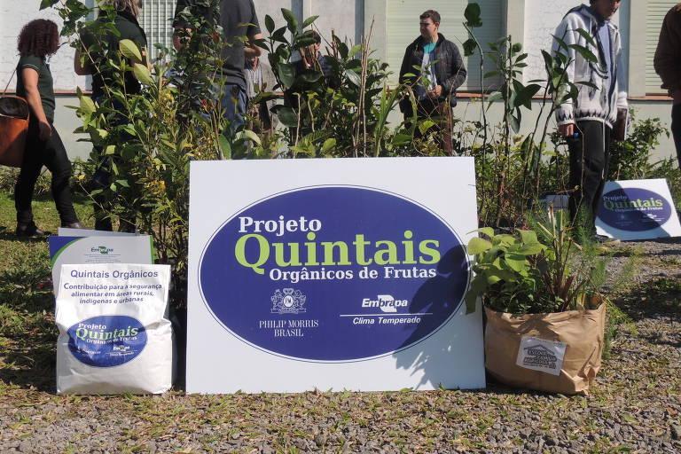 Kit projeto Quintais Orgânicos, desenhado pela Embrapa Clima Temperado e patrocinado pela Philip Morris