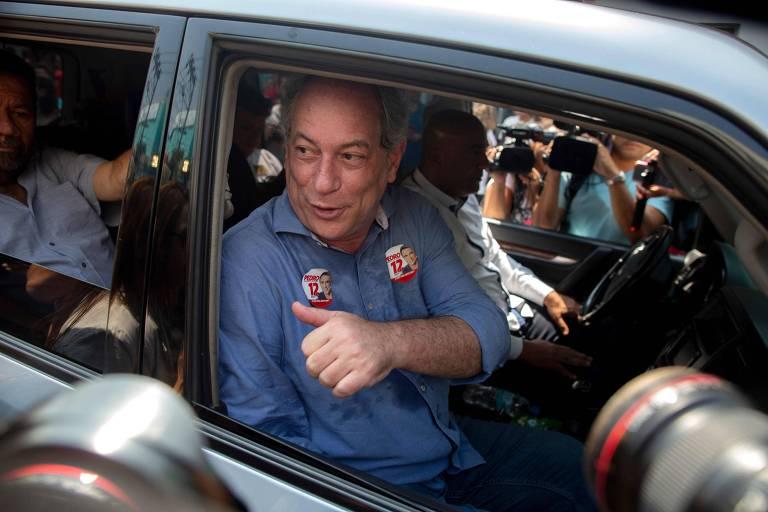 Ciro Gomes, candidato à Presidência pelo PDT, durante agenda de campanha em Duque de Caxias, no Rio de Janeiro