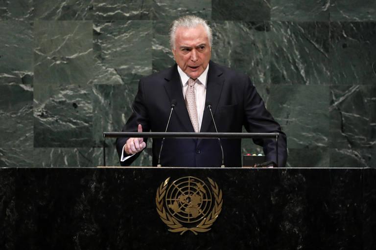 Michel Temer discursa na abertura da Assembleia Geral da ONU
