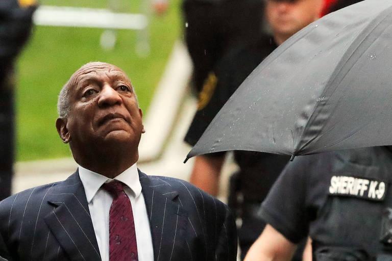 O ator e comediante Bill Cosby, condenado por agressão sexual em abril e sentenciado a prisão em setembro