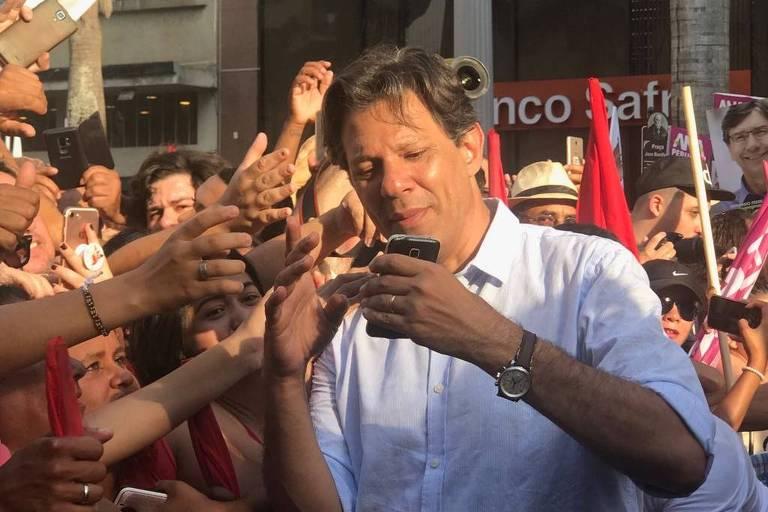 Candidato à Presidência, Fernando Haddad (PT) cumpre agenda de campanha em Campinas