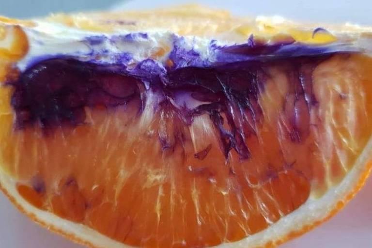 Autoridades australianas garantem que, mesmo roxa, a laranja não representa risco à saúde