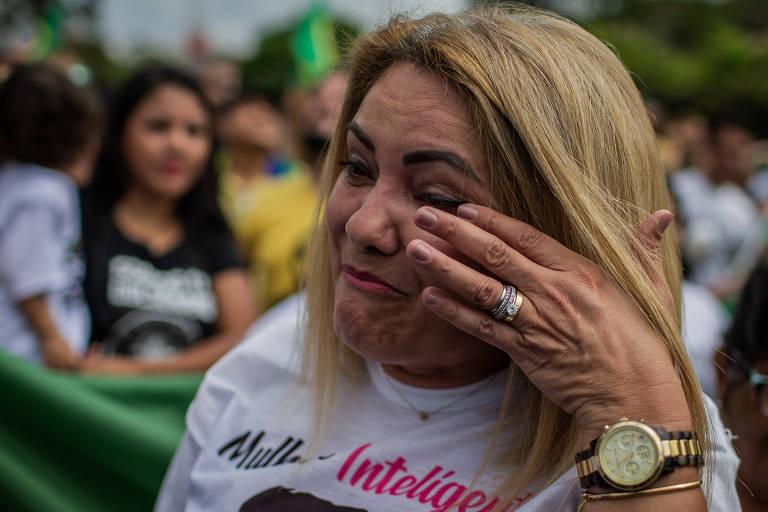 A ex-mulher do candidato do PSL à Presidência, Jair Bolsonaro, Ana Cristina Valle