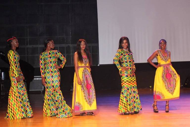 Concorrentes do Miss África Brasil 2018 em São Paulo