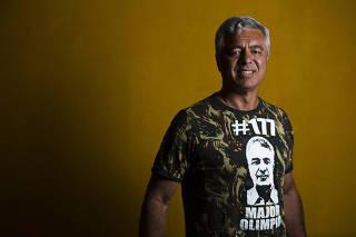 Major Olímpio durante entrevista à Folha