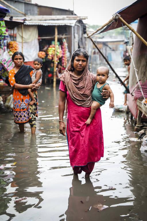 Vítimas do êxodo ambiental em Bangladesh