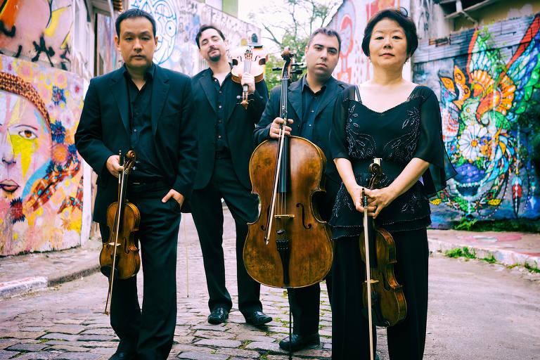 O Quarteto Camargo Guarnieri se apresenta na Paróquia de Sant'Ana no dia 30