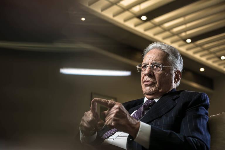 O ex presidente Fernando Henrique Cardoso, que critica o governo de Jair Bolsonaro
