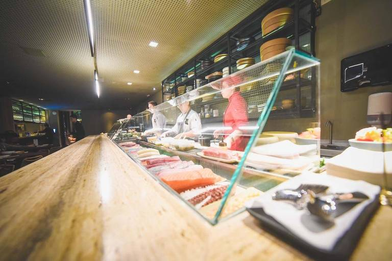 Bar de sushi do Ichi Restaurante, nos Jardins