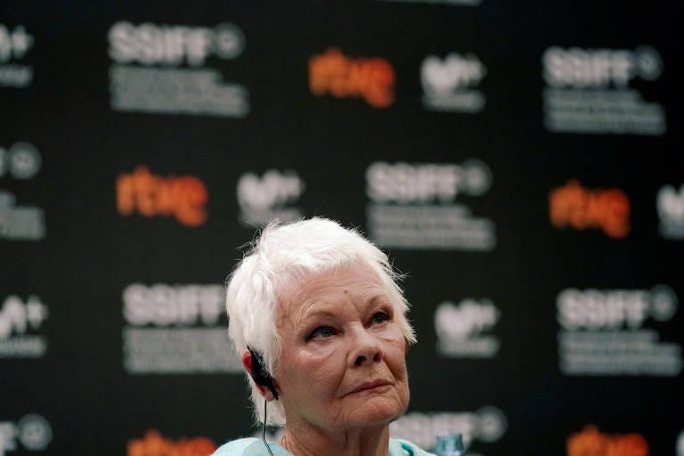 Judi Dench no festival de cinema de San Sebastián, na Espanha