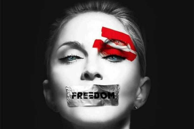 """Madonna também publica foto e adere à campanha #EleNão: """"acabe com o fascismo"""""""