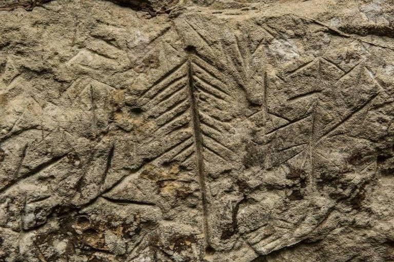 Gravuras indígenas históricas em caverna do Xingu