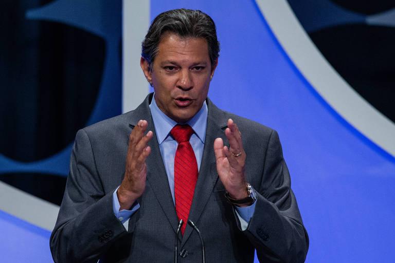 Candidato à Presidência pelo PT, Fernando Haddad